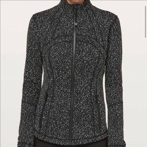 Define Jacket Magnetized Jacquard  Black White